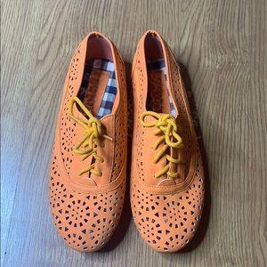 Nature Breeze Orange Brand New Cut Out Shoes